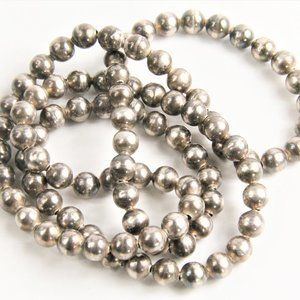 Jewelry - VINTAGE NAVAJO PEARL STERLING BEAD NECKLACE